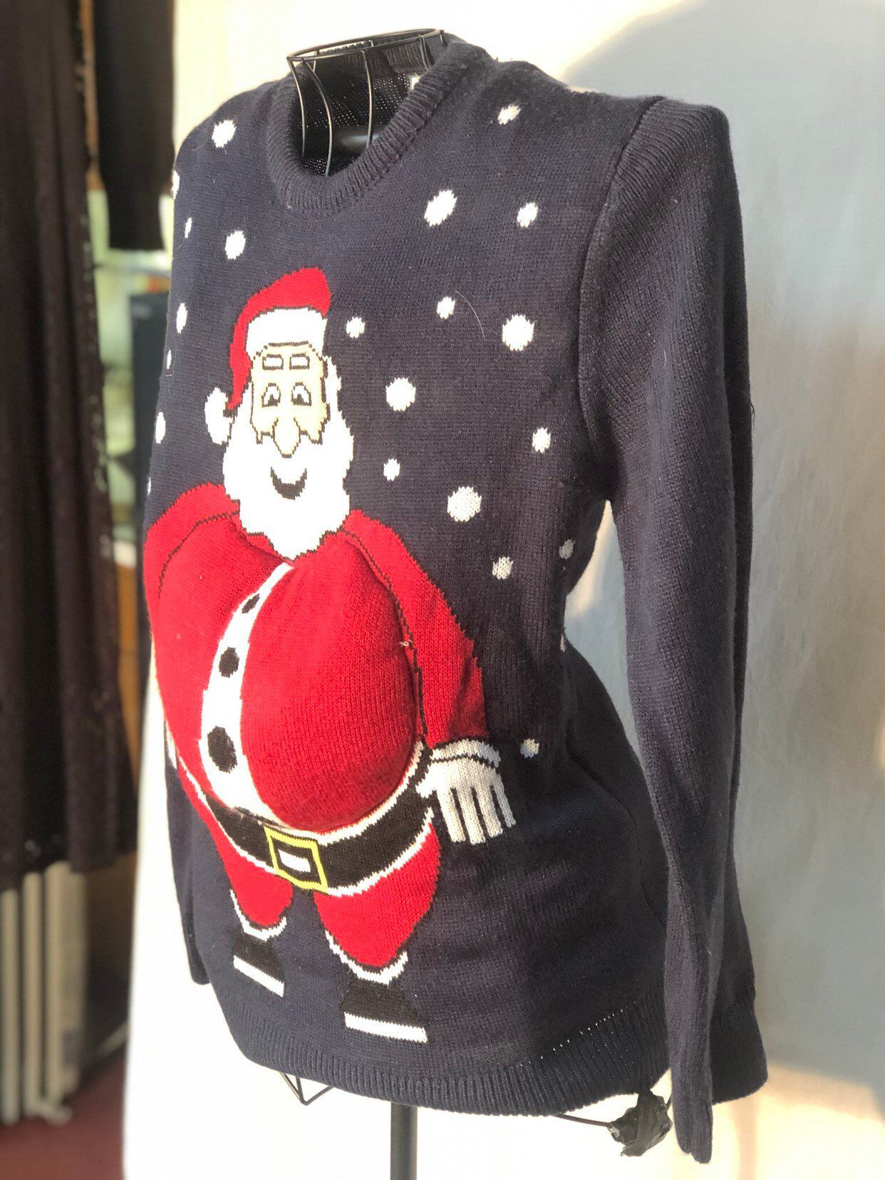 40fd174b0d6 Excited to share this item from my  etsy shop  Santa Claus Sweater with Fat  Belly - unisex ugly Christmas Party Sweater