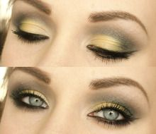 Soft yellow and gray, an unusual color combination that works!