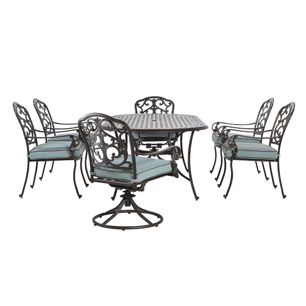 Home Decorators Collection Outdoor Madrid 7-Piece Patio Dining Set ...