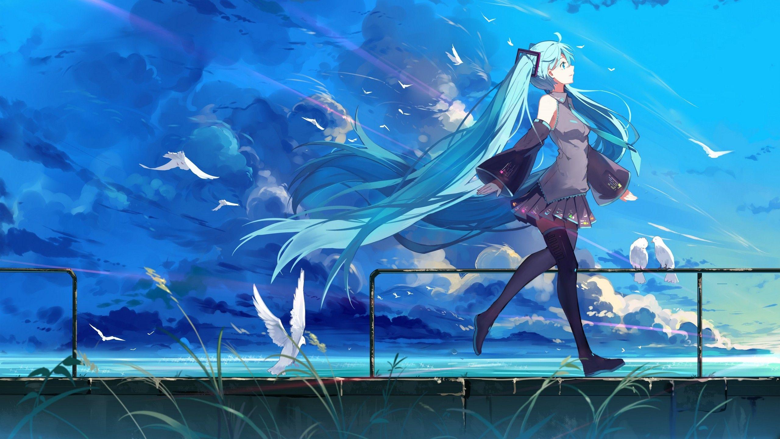 Wallhaven 354650 Jpg 2560 1440 Hatsune Miku Hatsune Kawaii Anime