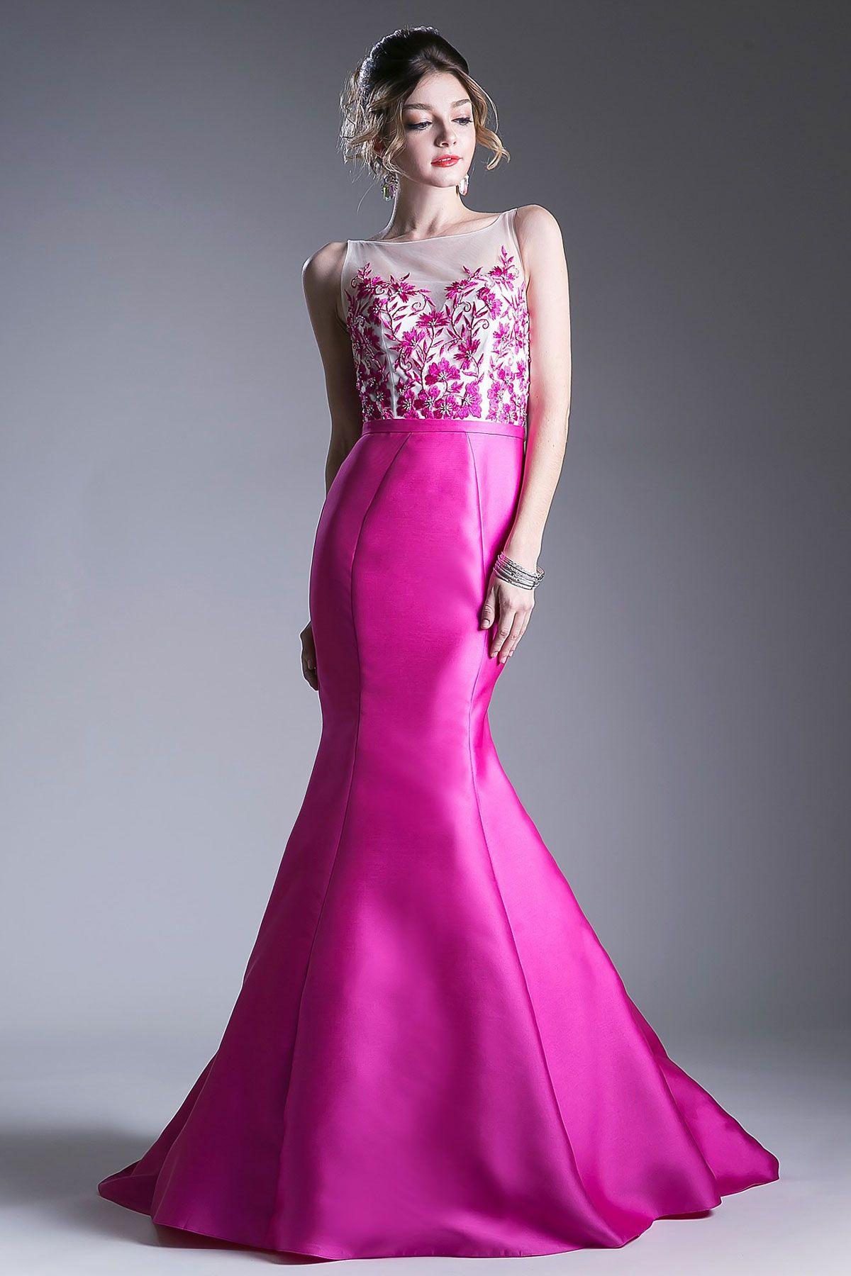 Длинное выпускное платье силуэта трампет kc