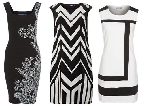 Zwart wit mode trend 2014. Zwart witte kleding met prints is helemaal in. Vooral geografische en dierenprints. Voor schoenen, jassen, jurken, tops, broeken.
