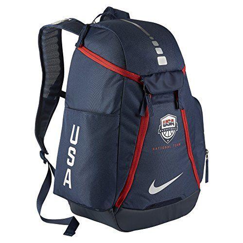6a268fd95470 Nike Hoops Elite Max Air 20 Team USA Olympics Basketball Backpack BA5280  Midnight NavyMidnight NavyMetallic Silver