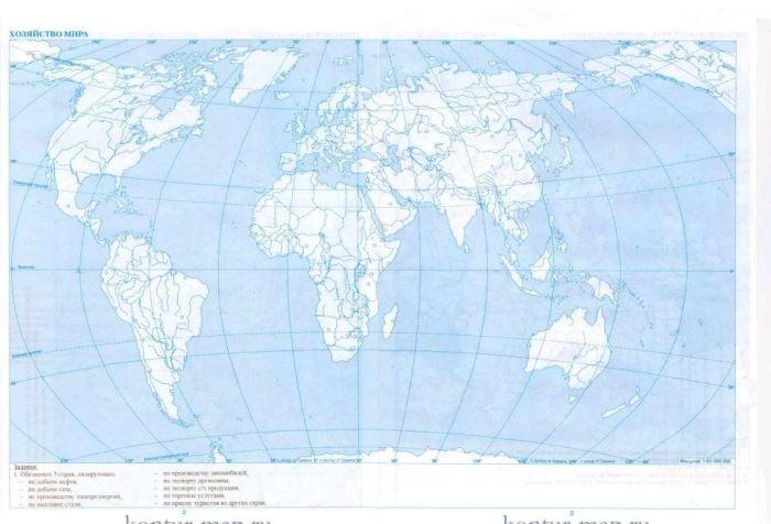 Контурные карты начальный курс географии е и галай 7 класс ответы