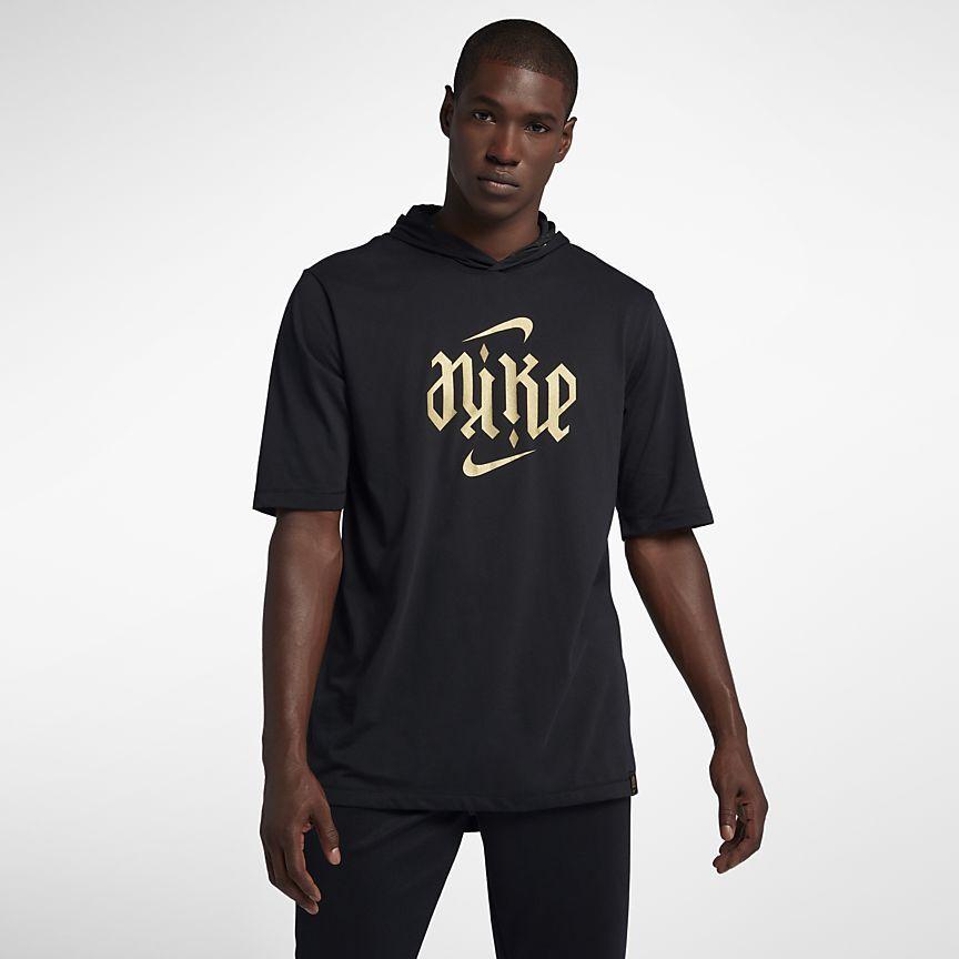 Nike Dri FIT Men's Hooded Basketball T Shirt.