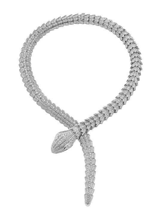collier diamant serpent
