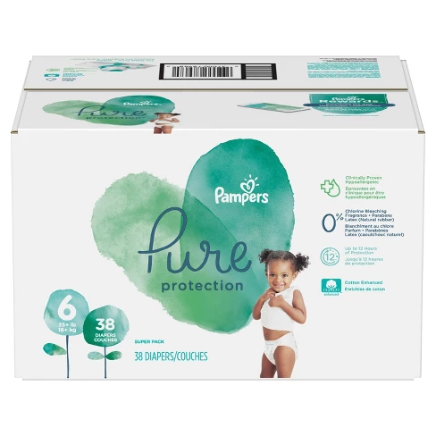 Pampers Pure Protection Disposable Diapers Super Pack Size 6 42ct Baby Protection Disposable Diapers Pampers