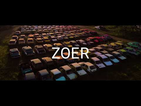 french contemporary artist, zoer presents his latest public project 'solara', where he transforms the oldest french scrapyard into a color chart.