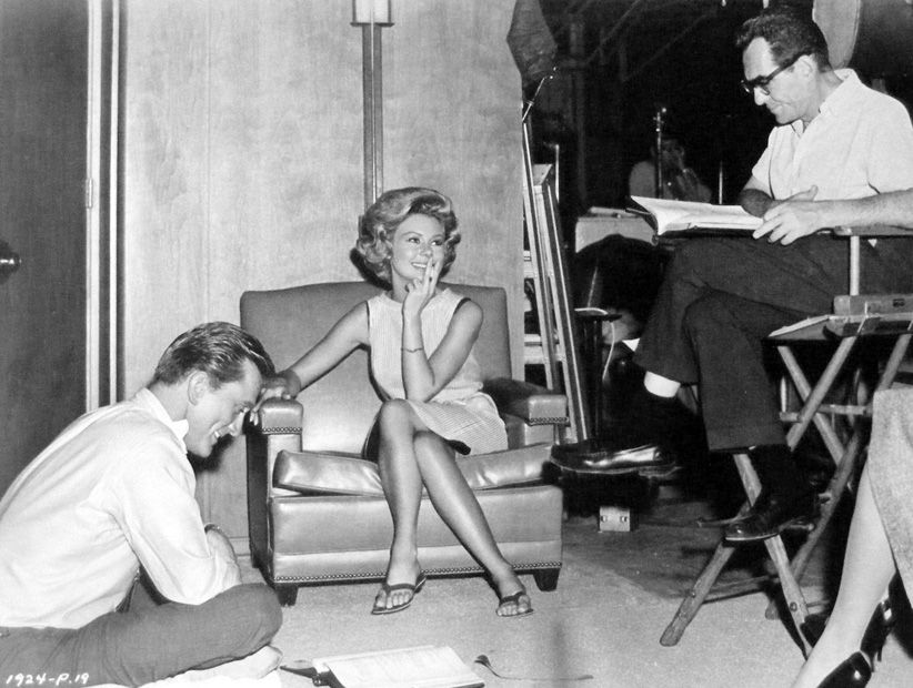 Kirk Douglas, Mitzi Gaynor and director Michael Gordon ...