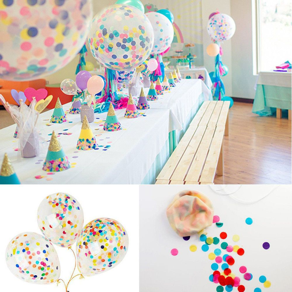 $1.15 AUD - 1000Pcs Helium Clear Confetti Filled Balloons Birthday ...