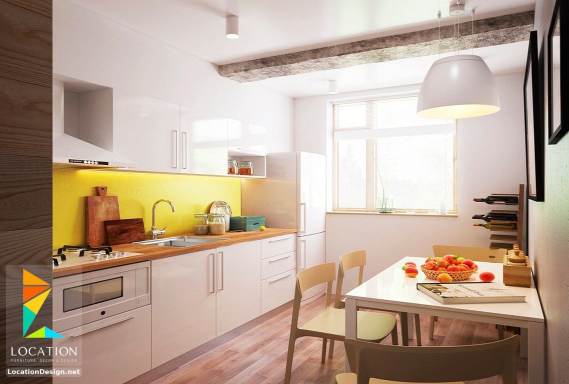 بالصور تصميم مطابخ صغيرة تنافس اكبر المطابخ 2018 2019 لوكشين ديزين نت Kitchen Cabinets Kitchen Home Decor