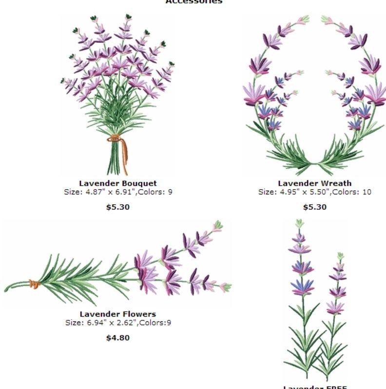 Photo Of Lavender Machine Embroidery Designs Font Alphabet Pes