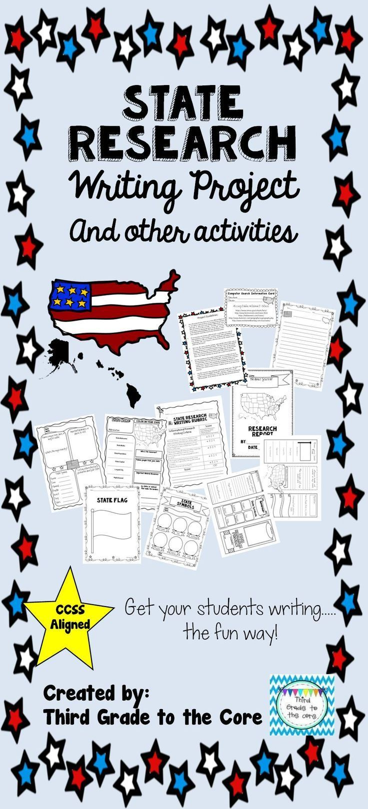 I love this project because there are so many different things you can do with it. It comes complete with project guidelines and graphic organizers.