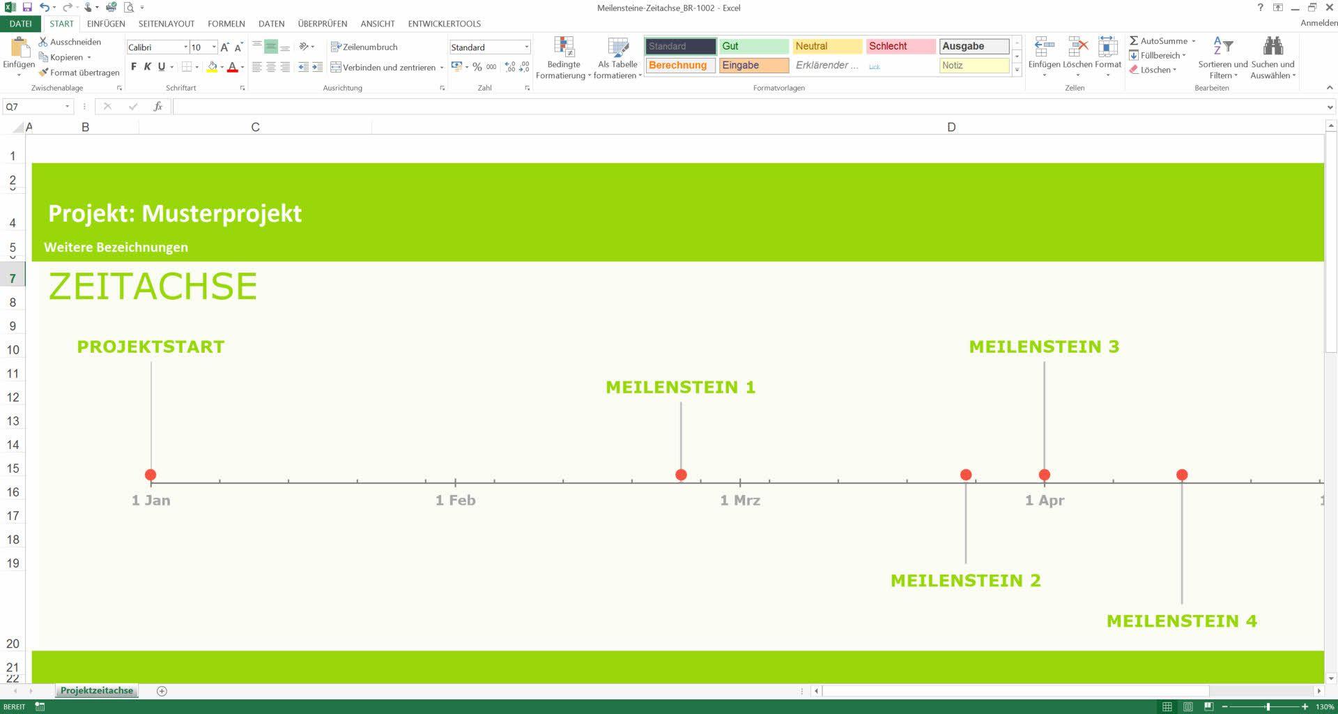 Excel Meilensteinplan   Business Lessons   Pinterest
