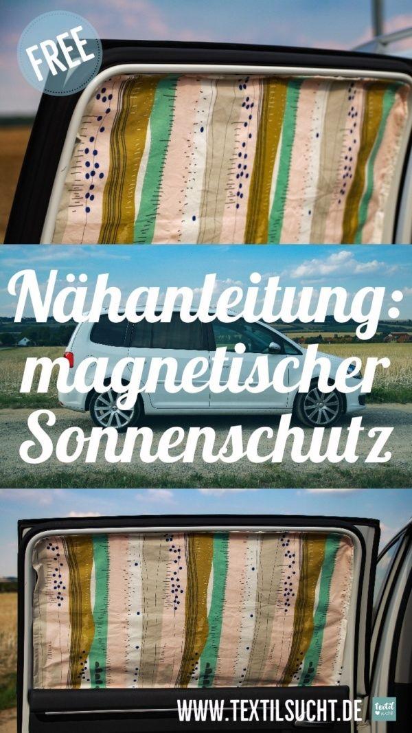 Nähanleitung: Magnetischen Sonnenschutz für's Auto nähen #sewingbeginner