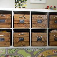 Packung mit 4 Holzkisten gebraucht für Kallax Regale 33x37