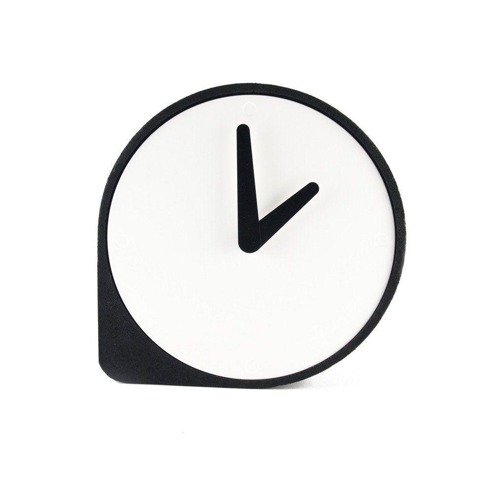 Home interior icon שעון שולחני clork שחור u soho  design shop  office signage