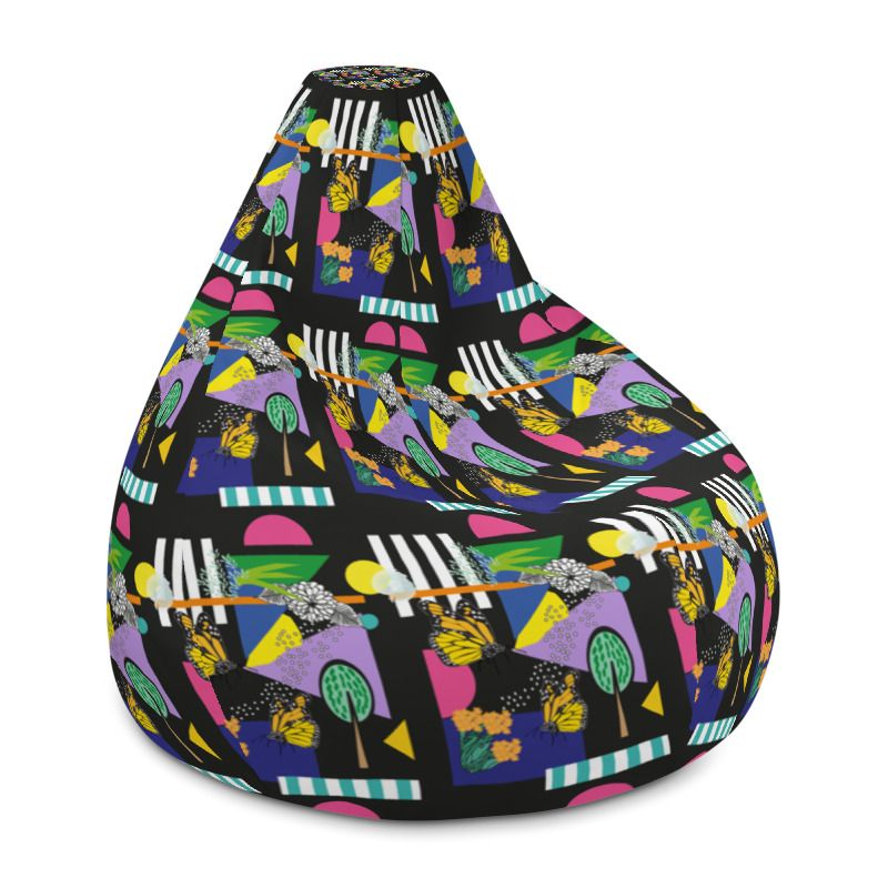Awesome All Over Print Bean Bag Chair W Filling Mockup Generator Machost Co Dining Chair Design Ideas Machostcouk
