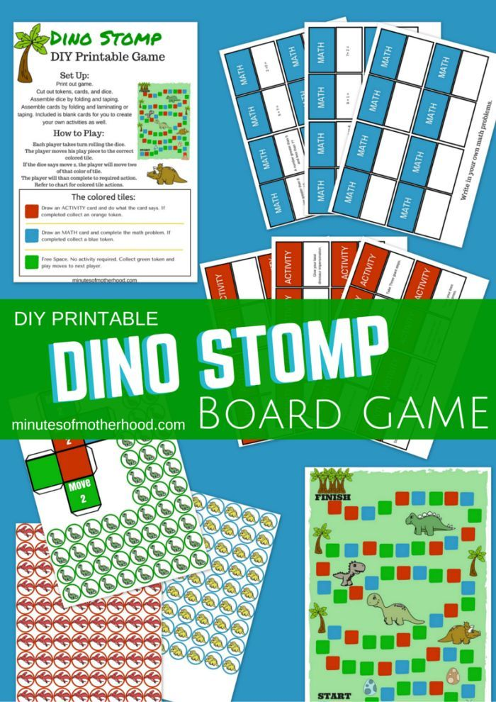 Dino Stomp Free DIY Printable Board Game | Pinterest | Board, Gaming ...