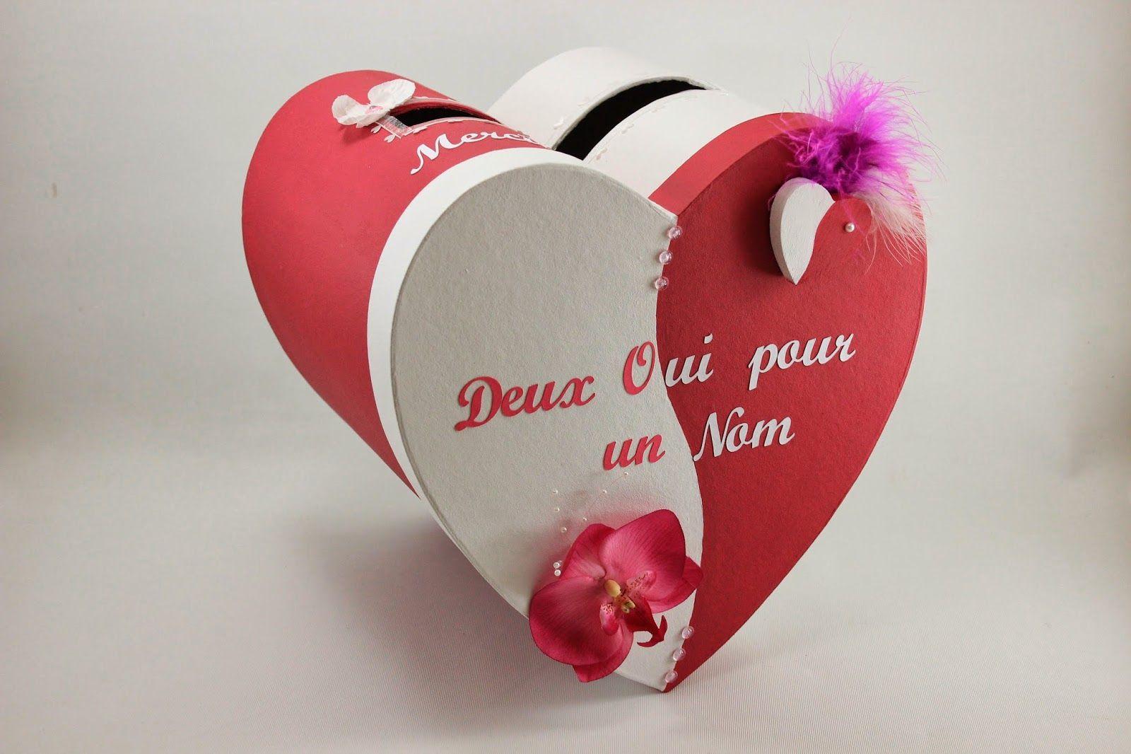 Urne De Mariage Coeur Rouge Et Blanche L 39 Atelier De