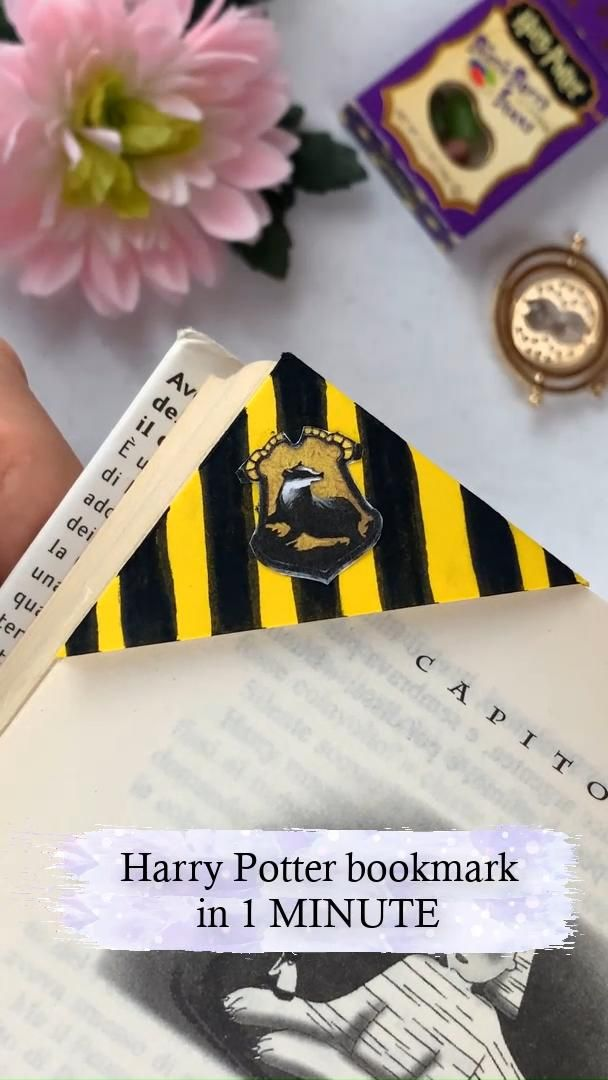 EASY Harry Potter bookmark in 1 MINUTE