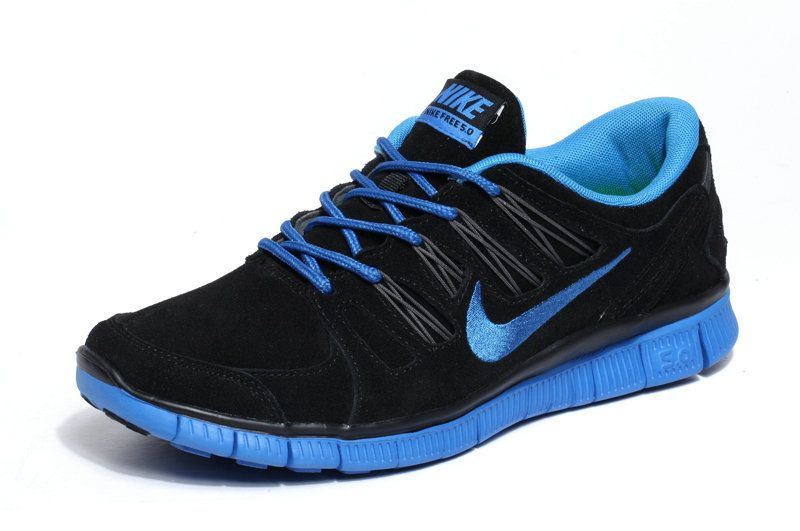 black blue nikes
