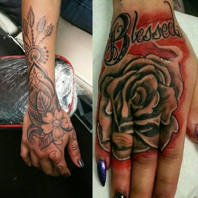 Hand tattoo for women henna tattoo rose tattoo blessed tattoo   tattoos   Pinterest   Blessed ...