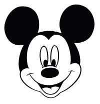 Mickey Mouse Head Disney Coloring Page Mickey Mouse Silhouette Mickey Mouse Printables Mickey Mouse Template