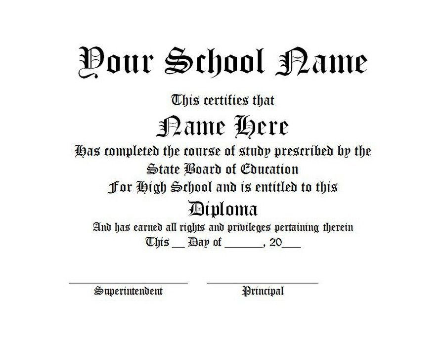 diploma free word templates customizable wording Template - Diploma Wording