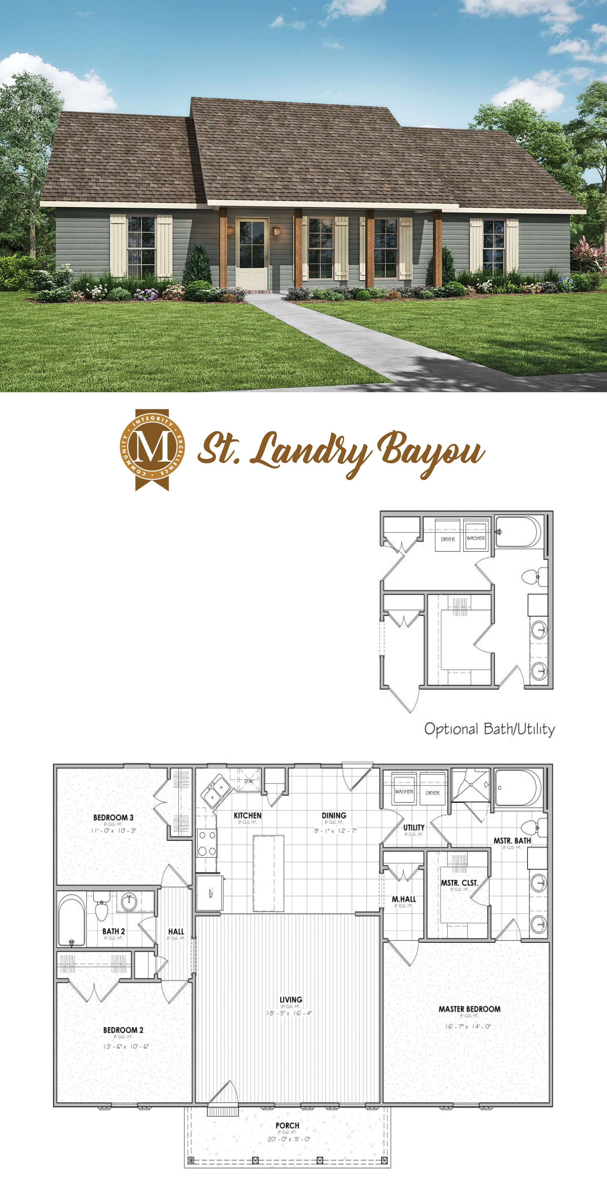 Living Sq Ft: 1,500 Bedrooms: 3 Baths: 2 Lafayette Lake