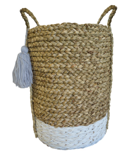 Tall White and Natural Woven Basket Storage need not be bulky and uninviting. Our  sc 1 st  Pinterest & Tall White and Natural Woven Basket: Storage need not be bulky and ...