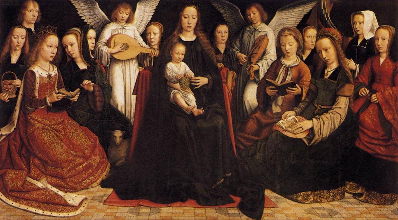 Virgen entre las vírgenes, Gerard David