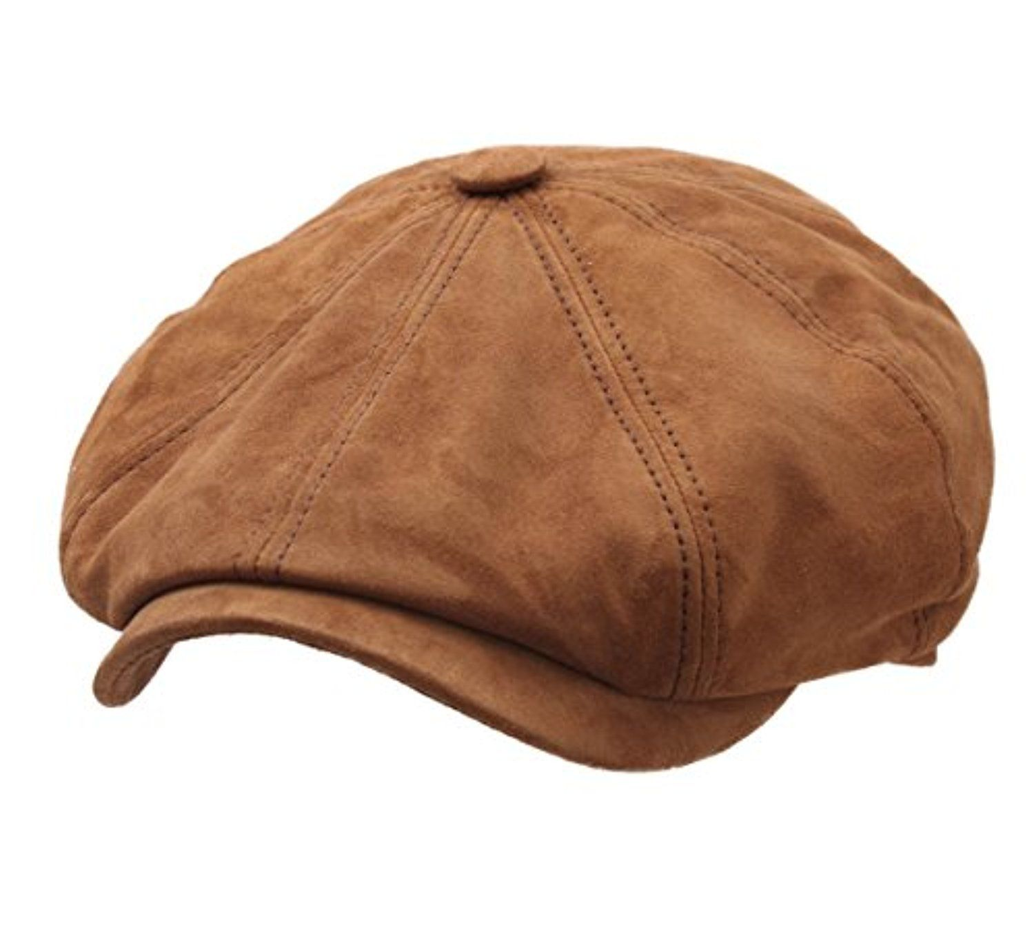 68e6f546 Stetson Men's Hatteras Goat Suede Leather Flat Cap -- Awesome products  selected by Anna Churchill