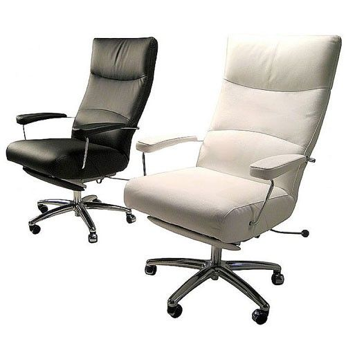 The Josh Recliner Is A Leather Recliner On A Full Swivel Metal Base On Wheels Click Picture For Mor Reclining Office Chair High Back Office Chair Leather Chair