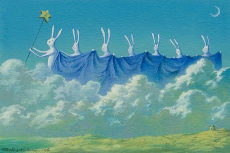 Pinzellades al món: Les il·lustracions de Thosio Ebine #illustration #rabbit #bunny