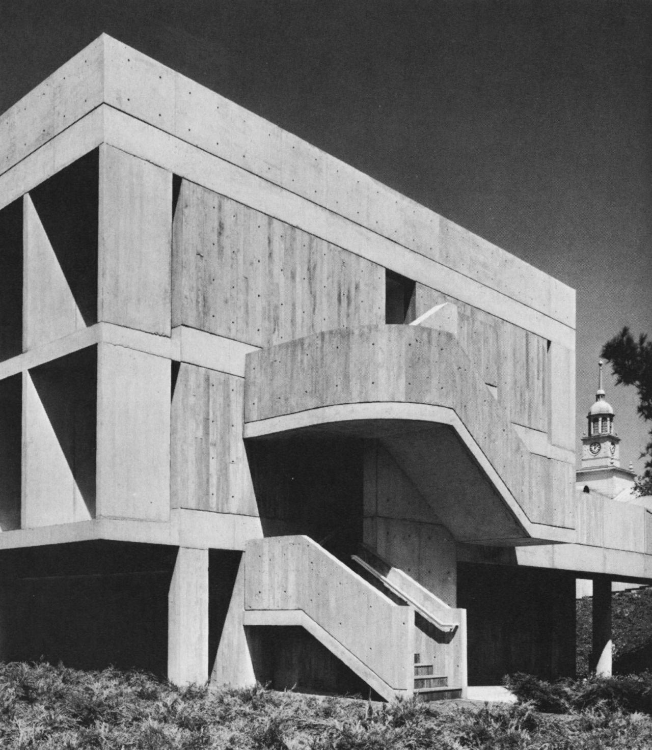 1940s Mission Style House Gets Brilliant Transformation In: Institute For Advanced Study, Princeton, New Jersey 1960's