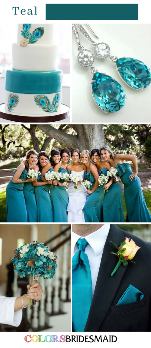 Fabulous Fall Wedding Colors Palettes in Shades of Blue
