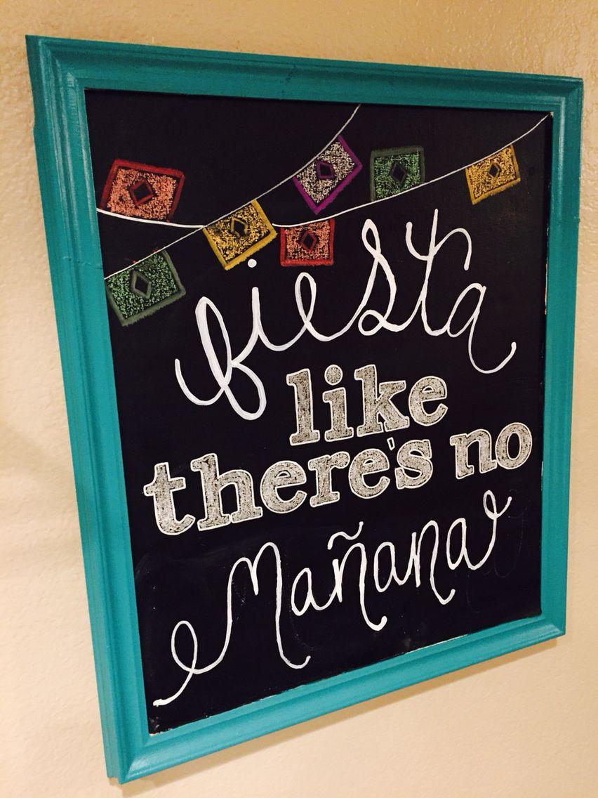 Cinco De Mayo Chalkboard Sign Birthday chalkboard art