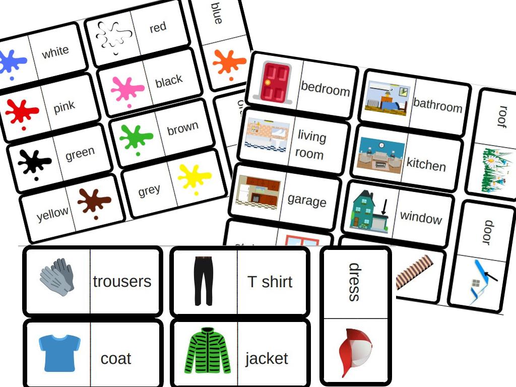 3 Jeux De Dominos Pour Travailler Le Vocabulaire En