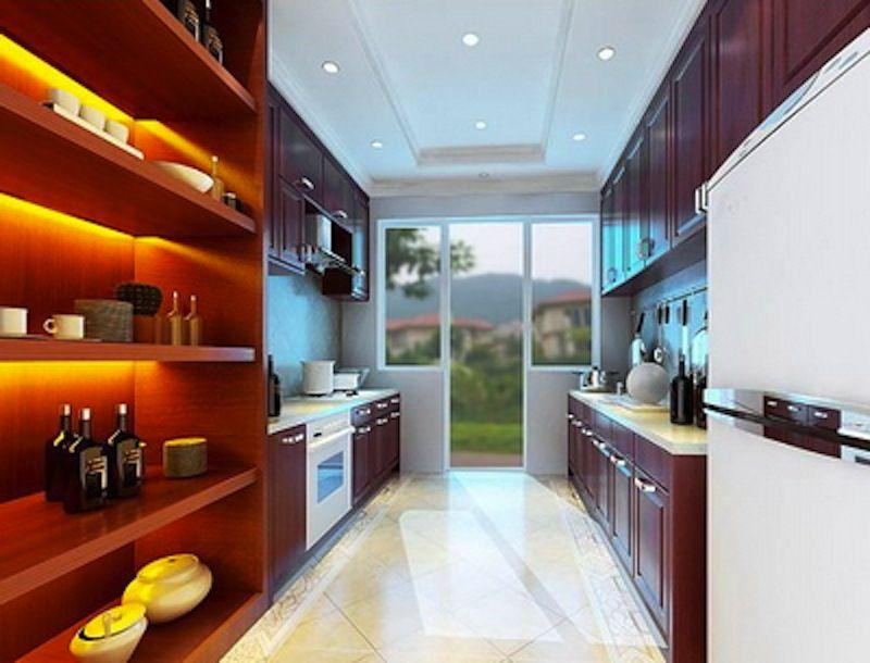 Modern Kitchen 3d Model modern kitchen interior 3ds max scene | free 3d models | pinterest