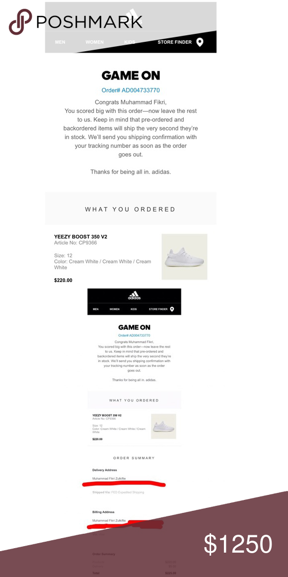 b5a5f14f83c12 YEEZY BOOST 350 V2  Cream White (UNOPENED PACKAGE) From the Adidas website  on