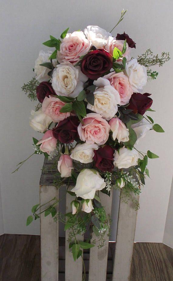 $131 Boho Bridal Bouquet Boho Wedding Flowers Silk Wedding ...