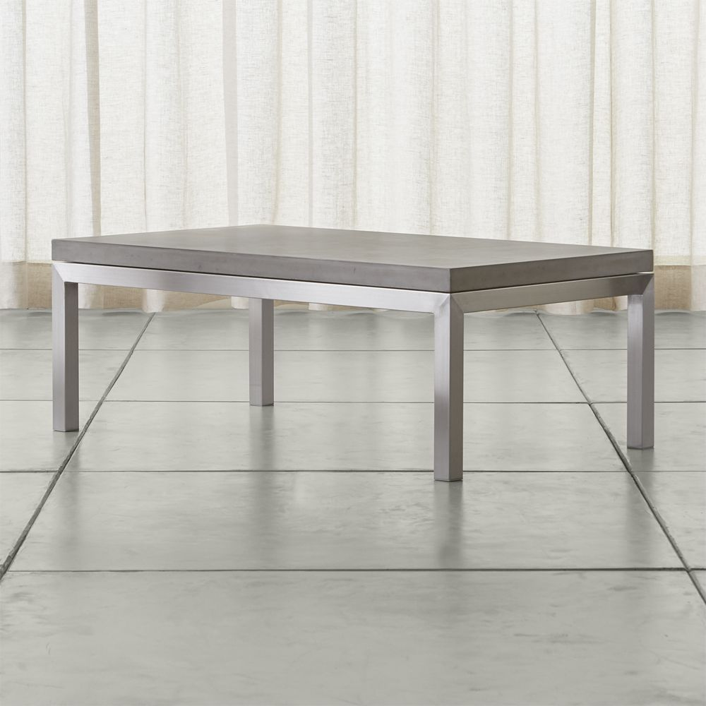 Parsons Concrete Top Stainless Steel Base X Small Rectangular - Small oblong coffee table