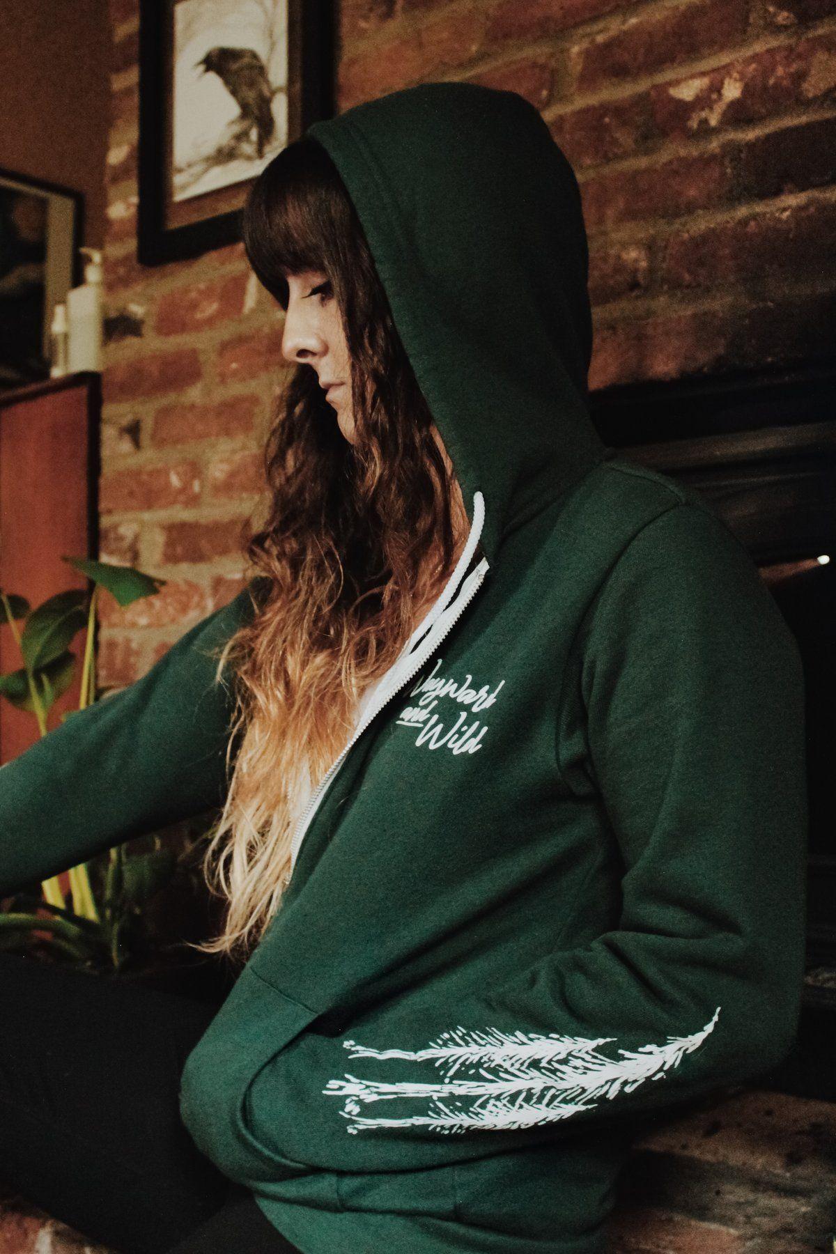 Green Tree Sleeves Zip Up Sweatshirt Tree Sleeve Zip Ups Soft Sweatshirts [ 1800 x 1200 Pixel ]