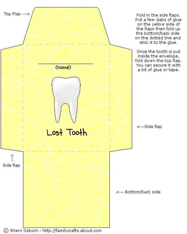 Lost Tooth Envelope Template Envelope Template Free Printable