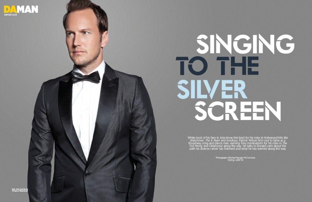 Actor cum Singer, Patrick Wilson covers Da Man April/May 2013 issue