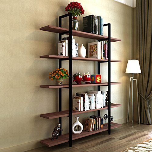 Williston Forge Melia Vintage Industrial Style 5-Tier Etagere Bookcase #vintageindustrialfurniture