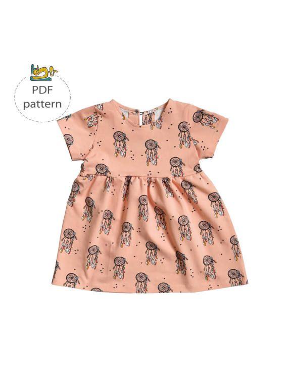 Baby dress sewing pattern, girl\'s dress pattern, toddler dress pdf ...