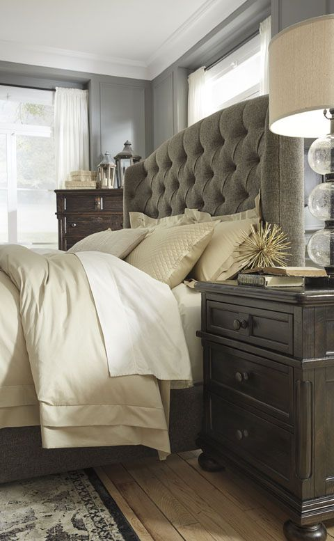 Gerlane upholstered bed in queen, king, or California King ...