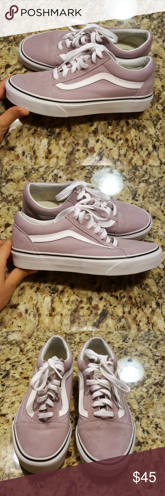 ecd5bc14bfb9d7 WOMENS VANS OLD SKOOL (SEA FOG TRUE WHITE COLOR) Signature curved stripes  and